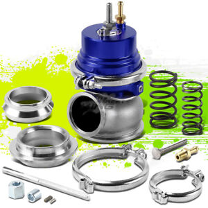 Universal 60mm Blue Turbo External V band Wastegate Wg Boost Bypass 12psi Spring