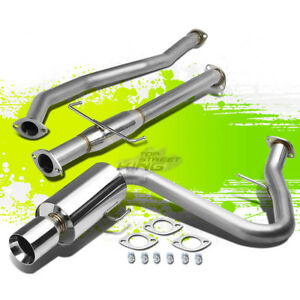 4 rolled Tip Muffler Performance Catback Exhaust For 05 10 Scion Tc Vvti 2az