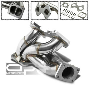 Stainless T4 Racing Sport Turbo Manifold 93 98 Mazda Rx7 Fd3s Fd S6 s7 13b rew
