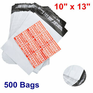 500 Poly Mailer Envelope 10x13 Shipping Supplies Mailing Self Sealing Bag 2 5mil