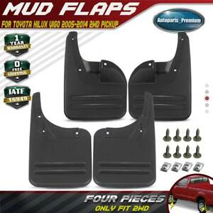 Set Of 4 Mud Flaps Splash Guards For Toyota Hilux 2005 2012 Front And Rear