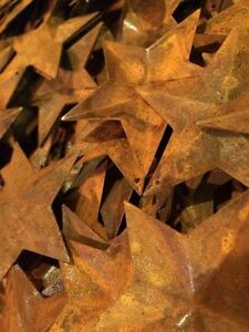 Lot 100 Rusty Barn Stars 2 25 In 2 1 4 Primitive Country Rusted Rust Craft