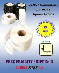 150 Rolls Dymo Labelwriter Duo Compatible Labels 30332 Twin Turbo El40 Se300