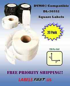 20 Rolls Dymo Labelwriter 4xl Turbo Duo Compatible Multipurpose Labels 30332
