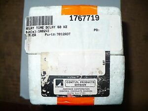 Tyco agastat 7012adt Relay Time Delay 5 50sec 120vac Coil New