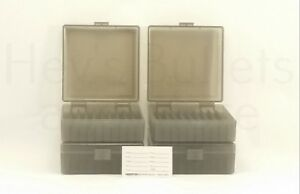 BERRY'S PLASTIC AMMO BOXES (4) SMOKE 100 Round 38  357 - FREE SHIPPING