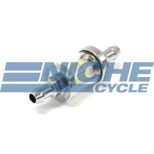 Universal 1 4 6mm Chrome 3 5 Glass Reusable Washable Inline Fuel Filter