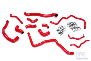 Hps Silicone Radiator Heater Hose For 06 08 A3 Gti Jetta Mk5 2 0t Turbo Lhd Red