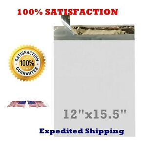 12x15 5 Poly Bag Plastic Envelopes Mailers Shipping Self Seal 100 500 1000 5000