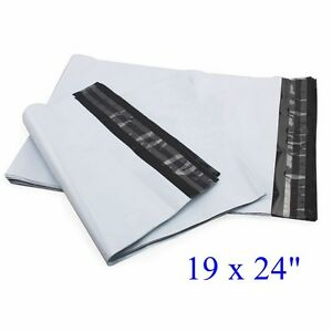 19 X 24 Poly Mailers Envelopes Plastic Mailing Bags 15 50 100 150 300 2 35 Mil