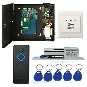 1door Security Access Control Kit With Electric Bolt Lock Rfid Reader power Box