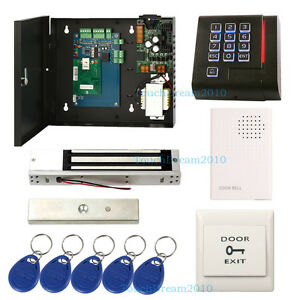 Single Door Access Control Lock Systems Wired Doorbell Rfid Proximity Reader