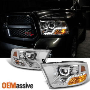 Fits angel Mono eye Tech 2009 2018 Dodge Ram 1500 2500 3500 Halo Led Headlight