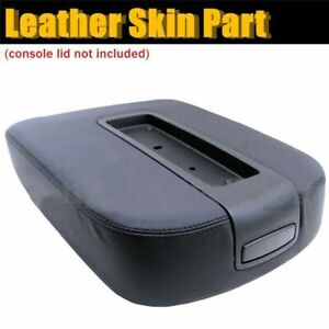 Leather Console Lid Armrest Cover For 07 13 Chevy Tahoe Suburban Yukon Sierra