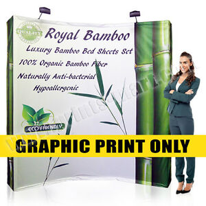 8ft Trade Show Tension Fabric Pop Up Display Replacement Graphic Banner Printing