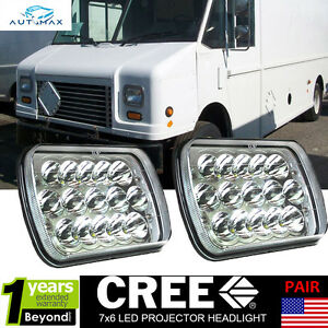 Led Projector Headlights For Freightliner Mt 35 Mt 45 Mt 55 Stepvan Pack Of 2