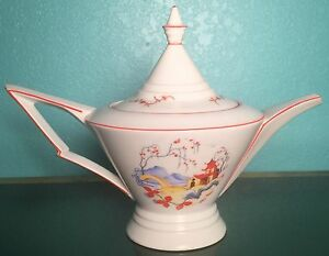 Porcelain Teapot Made In Germany Rare Unique Signed On Base