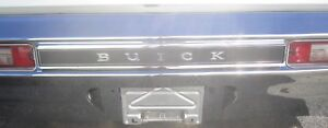 1970 Buick Skylark Gs Gsx Rear Bumper Emblem Die Cast Chrome