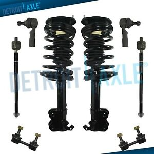 Front Struts Sway Bar Links Outer Tie Rods For Chevrolet Prizm Toyota Corolla