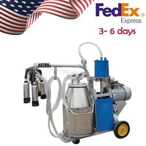 Usps Ship Electric Milking Machine Piston Vacuum Pump For Farm Cows bucket