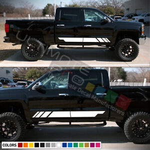 Decal Sticker Stripes Kit For Chevrolet Silverado Side 2017 2016 2015 2014 2013