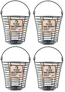 4 Harris Farms 4261 Large Poultry Egg Collection Washing Wire Baskets
