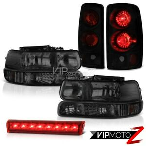 2000 2006 Tahoe Z71 Bumper Headlights Black Smoke Tail Lights Roof Brake Led Red