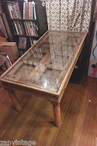 Vintage 8 Seater Old Indian Door Chakra Indonesian Dinning Room Table