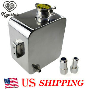 Universal 2l Coolant Radiator Overflow Recovery Water Tank Bottle Aluminum New
