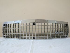 1989 1990 Cadillac Deville Fleetwood Fwd Front Upper Radiator Grill Oem 25531908