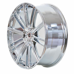 4 Gwg Wheels 20 Inch Chrome Flow Rims Fits 5x114 3 Et38 Ford Mustang 2005 2014