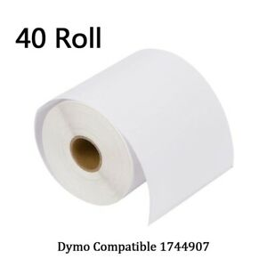40 Rolls 220 roll 4x6 Thermal Labels 1744907 Dymo 4xl Compatible Free Shipping