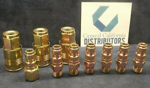 10 Pc Milton 1803 1809 1810 P Style Air Hose Fittings 1 4 Npt