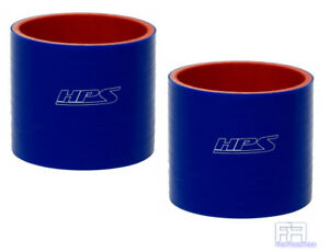 2x Hps 4 ply Reinforced 4 Inch 102mm Silicone Coupler Hose Tube Pipe Blue