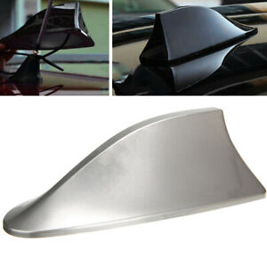 New Universal Car Auto Shark Fin Roof Antenna Radio Fm Am Decorate Aerial Gray