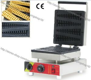 Commercial Nonstick Electric 4pcs Lolly Waffle Stick Maker Baker Iron Machine