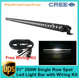 31inch 150w Offroad Single Row Cree Led Light Bar 3d Optical Car Atv Suv Rzr 30