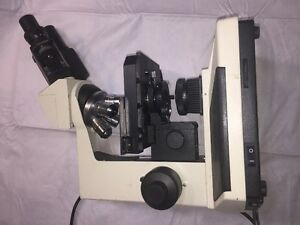 Fisher Scientific Micromaster Microscope Cat 12 561b W 4 Opticals