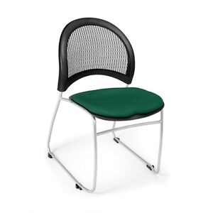 Ofm Moon Stack Chair Forest Green