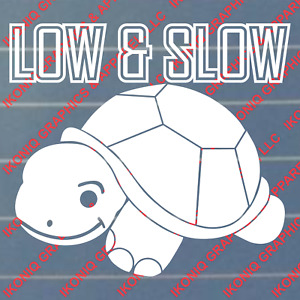 Low And Slow Decal Sticker Jdm Drift Import Car Truck