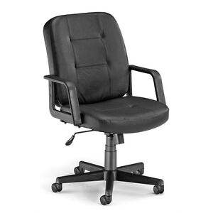Ofm Executive conference Low back Leather Chair Black
