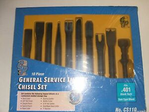 Grey Pneumatic Cs110 10 Piece General Service Impact Chisel Set