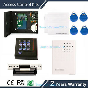 Proximity Card Access Control System For 1 Door With Ansi Strike Lock Power Box