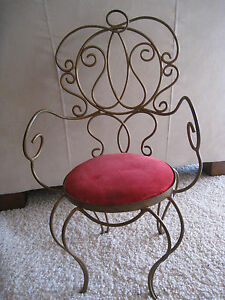 Vintage Childrens Child Size Victorian Metal Chair Sweet Reduced