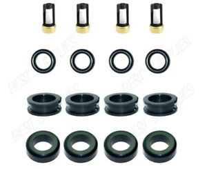 Fuel Injector Service Repair Kit O Rings Grommets Filters Seals