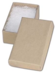 Jewelry Gift Boxes 100 21 Retail Earring Cotton Filled 2 X 1 X 7 8 Kraft