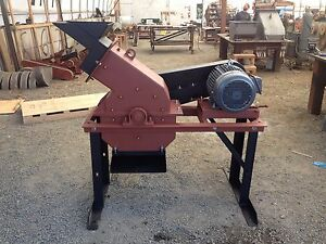 Hammer Mill Electric 16 X 12 15hp For Mining Scrap Metal Etc 1 Tph