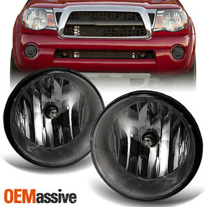 Smoked Fits 2005 2011 Toyota Tacoma Bumper Fog Lights Lamps W Bulb Switch Lh Rh