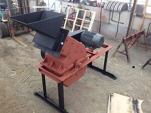 Hammer Mill Electric 24 X 16 30hp For Mining Scrap Metal Etc 2 Tph