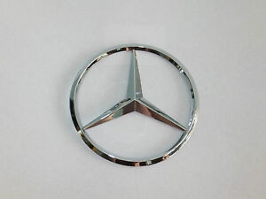 New For Mercedes Benz Chrome Star Trunk Emblem Badge 90mm Free
